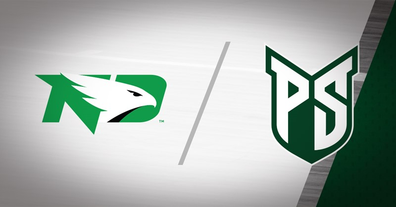 North Dakota logo and Portland State logo